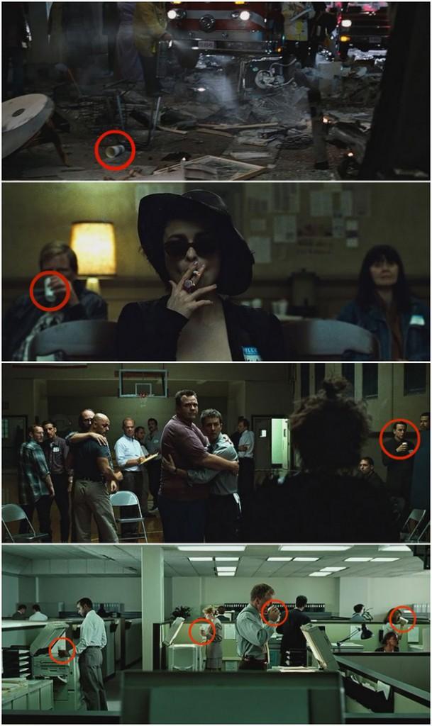 Un baso de Starbucks aparece en cada escena de El Club de la lucha
