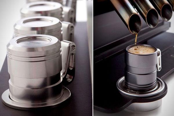 La cafetera que funciona com un motor